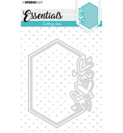 STENCILSL389 Cutting Die Small shape hexagon hearts Essentials