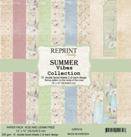 CRP019 Reprint 12x12 Inch Collection Pack  Summer Vibes