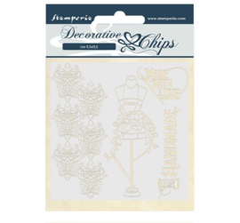 SCB52 Stamperia Decorative Chips Threads Couture