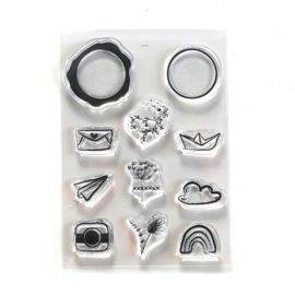 CS220 ECD Clearstamps Seal Embellishments