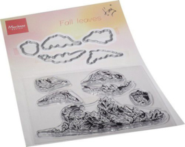 TC0885 Clear Stamp & Die set Tiny's Fall Bladeren