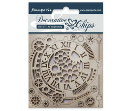SCB33 Stamperia Decorative Chips Gears and Clocks