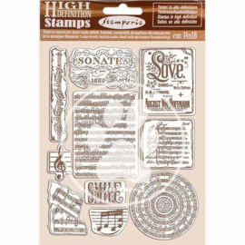 WTKCC197 Stamperia Natural Rubber Stamp Passion Music