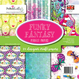 PD7896 Polkadoodles Funky Fantasy 6x6 Inch Paper Pack