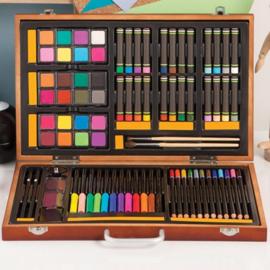 1103-08 Studio 71 • Professional art set wooden case 80pcs set