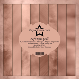 PF349 Paper Favourites Soft Rose Gold 12x12 Inch Paper Pack