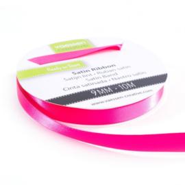 301002-2007 Vaessen Creative satijnlint dubbel 9mm - 10m pink