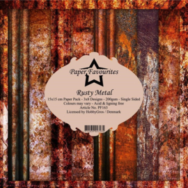PF163 Paper Favourites 6x6 Inch Paper Pack Rusty Metal