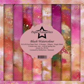PF356 Paper Favourites Blush Watercolour 12x12 Inch Paper Pack