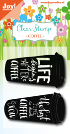 6410/0475 Stempel Set Coffee - Coffeecup txt