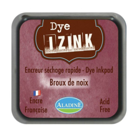 19267 Aladine Inkpad Izink Dye Marron Brou De Noix