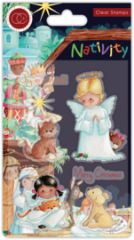 CCSTMP050 Craft Consortium Nativity Clear Stamps Angels