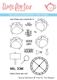 T4T/292/Hoo/Cle Time For Tea Hooray Hamster Clear Stamps
