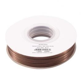 301002-5024 Vaessen Creative • Satijnlint dubbel 3 mm 100m Bruin
