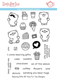 T4T/330/Bea/Cle Time For Tea Bearing Gifts Clear Stamps