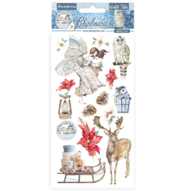 DFLCB33 Stamperia Chipboard 15x30cm Winter Tales Christmas Elements