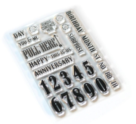 CS160 ECD Clearstamps Pieces of Life 1 Number & More