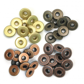 41595-4 We R Memory Keepers wide eyelets copper warm metal