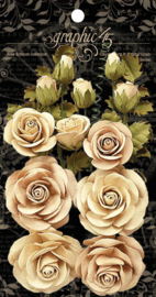4501784 Graphic 45 Rose Bouquet Collection Ivory & Natural Linen