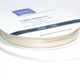 301002-0034 Vaessen Creative satijnlint dubbel 3mm - 10m Ivoor