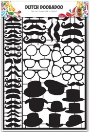472.950.002 Laser Paper Art A5 black Mustaches