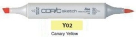 Y02 Copic Sketch Marker Canary Yellow