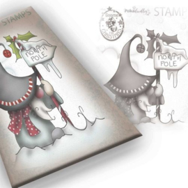 PD7944 Polkadoodles Gnome North Pole Clear Stamp