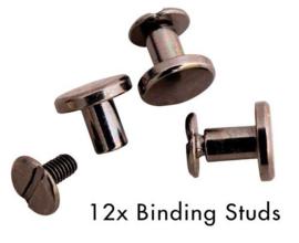 SL-PES-STUD01 Binding Studs Black Planner Essentials 12st