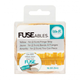 660862 We R Memory Keepers • FUSEables Fringe Strip Yellow