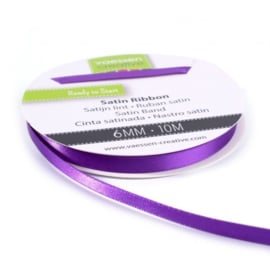 301002-1016 Vaessen Creative satijnlint dubbel 6mm - 10m paars