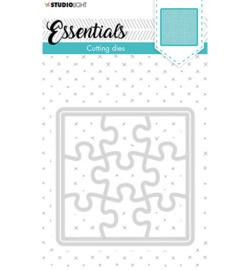 STENCILSL388 Cutting Die Small shape square puzzle