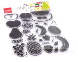 CS1064  Clear stamps silhouette fruit