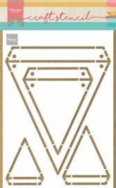 PS8082 Craft Stencil Vlaggen