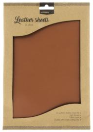 FLSSL02 Fake Leather Sheets -  Brown