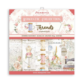 SBBL88 Stamperia 12x12 Inch Paper Pack Romantic Threads