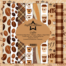 PF338 Paper Favourites Coffee 12x12 Inch Paper Pack