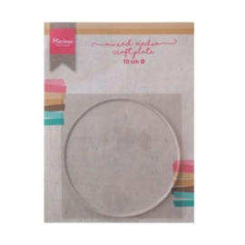LR0016 Marianne Design mixed media craft plate circle 10cm