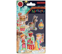 CCSTMP048 Craft Consortium Nativity Clear Stamps Three Wise Men