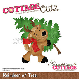 CC-807 Scrapping Cottage Reindeer with Tree