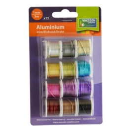 3958-004 Aluminium wire 12x3m assorted 1mm dikte
