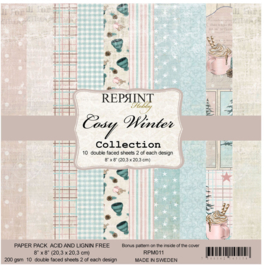 RPM011 Reprint Cozy Winter Collection 8x8 Inch Paper Pack