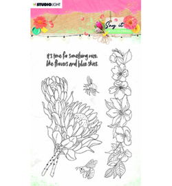 SL-SWF-STAMP524 Clear Stamp Say it with flowers