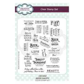 CEC952 Creative Expressions • A5 clear stamp set beer happy