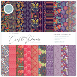 CCEPAD002 Craft Consortium Essential Craft Papers 12x12 Inch Paper Pad Eastern Influences