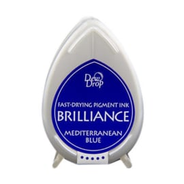 BD-000-018 Dew Drop Brillance Ink Pad Mediterrenian blue