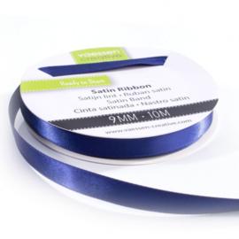 301002-2014 Vaessen Creative satijnlint dubbel 9mm - 10m donkerblauw