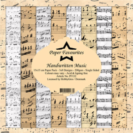 PF152 Paper Favourites Handwritten Music 6x6 Inch Paper Pack