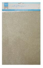 CA3144 Soft glitter paper Platinum