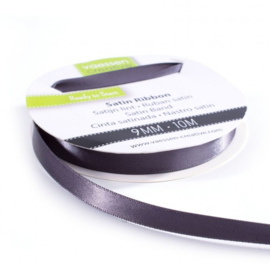 301002-2005 Vaessen Creative satijnlint dubbel 9mm - 10m antraciet