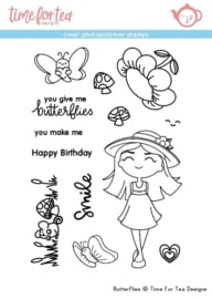T4T/108/But/Sta Time For Tea Butterflies Clear Stamps